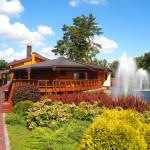Sauna complex and waterfalls in President's villa