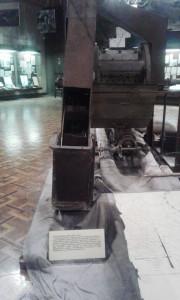 Human's bones grinding machine. II World War Museum