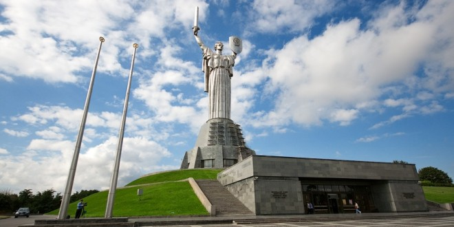 Motherland statue or Rodina Mat in Kiev. Built in 1981. Height 102 m.