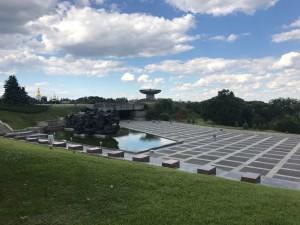 Memorial fire for the II World War heroes. Kiev