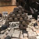 Nazi helmets in the IIWW museum in Kiev.
