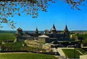 Kamianets-Podilskyi city and castle. UNESCO object.