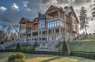 President Yanukovich villa in Mezhyhirya. Here you can find zoo, yacht club, waterfalls, goalf fiels, old car collection and many more