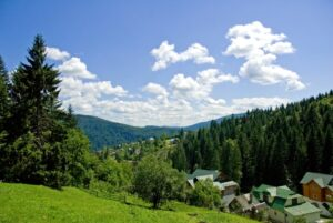 Carpathian mountains. Yaremche city.Carpathian mountains. Yaremche city.