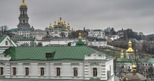 Kiev cave monastery complex. Kiev lavra of 11 century. UNESCO object