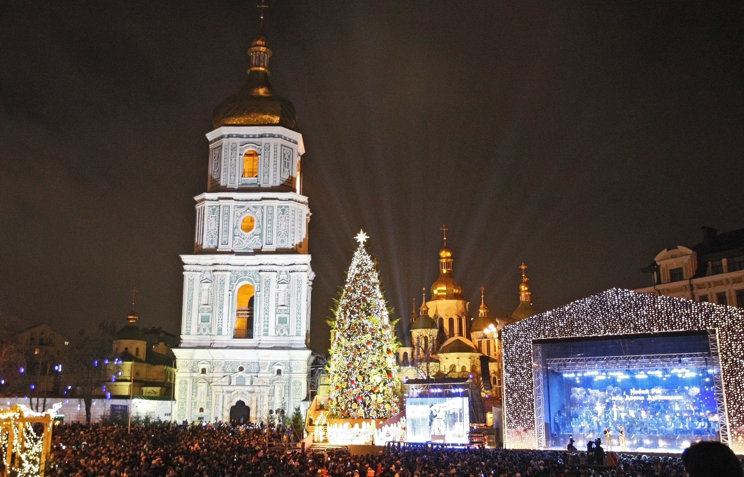 Christmas tree 2019 in Kiev