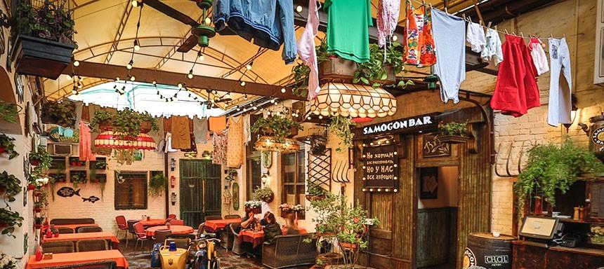 Samogon fish bar on Podil, Kiev
