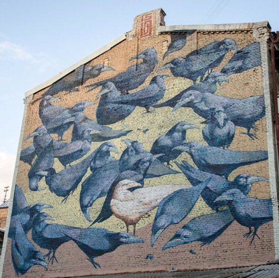 Mural of Ravins in Kiev