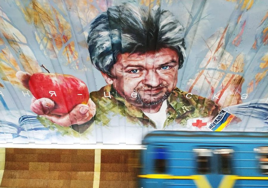 Murals in Kyiv metro