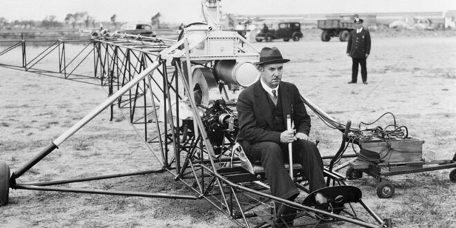 Igor Sikorsky in his plane