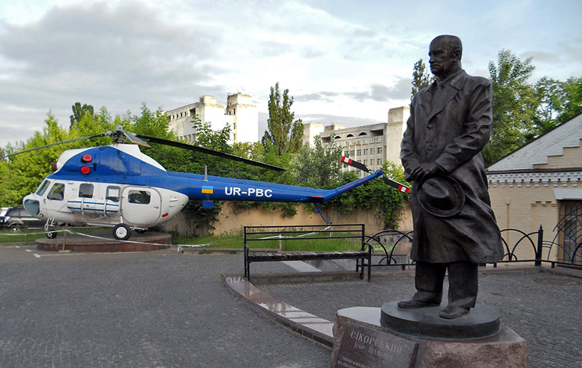 Sikorsky monument in Kyiv Polytechnic University