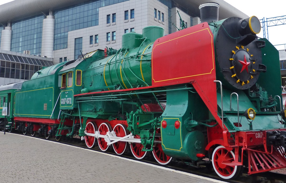 Museum of old trains in Kyiv